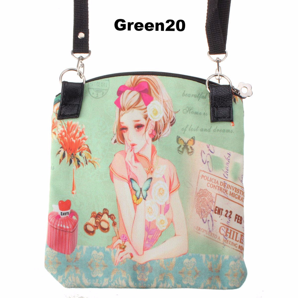 New Women Messenger Bags Vintage Canvas Printing Small Satchel Shoulder European Style Girls Handbag Lady Bolsa Crossbody Bag