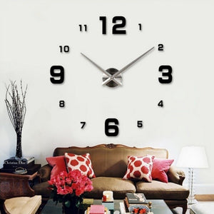 2016 Diy 3d Home decoration wall clock big mirror wall clock Modern design,large size wall clocks.diy wall sticker unique gift - Gifts Leads