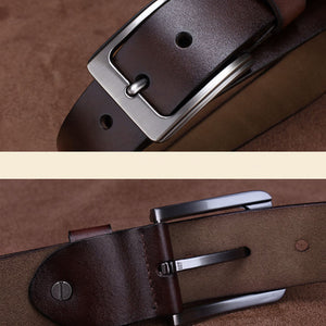 2016 Cow genuine leather belts for men alloy pin buckle strap - Gifts Leads