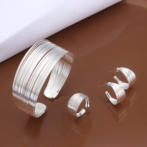 Fashion Jewelry Set,925 Sterling silver jewelry Sets. Nice Jewelry.