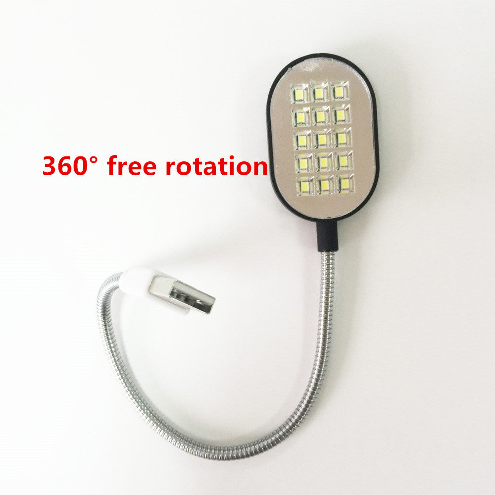 1PCS USB Light Computer Lamp New Flexible Bright Mini 15 LED For Notebook Computer PC Free Shipping - Gifts Leads