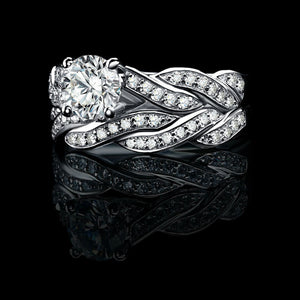 Brilliant Cut 1.5ct Dazzling AAA Cubic Zirconia 925 Solid Sterling Silver