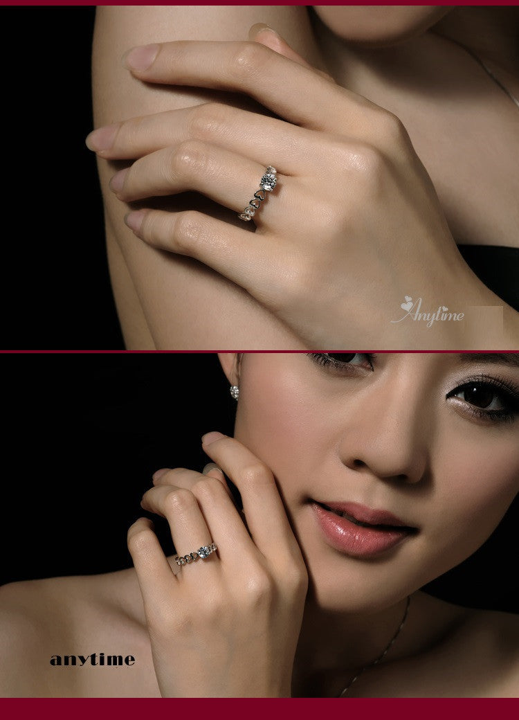 The Finger Ring O Wedding Rings Fashion Vintage Cubic Zircon Simulated Diamond Jewelery Bijouterie Ulove J391