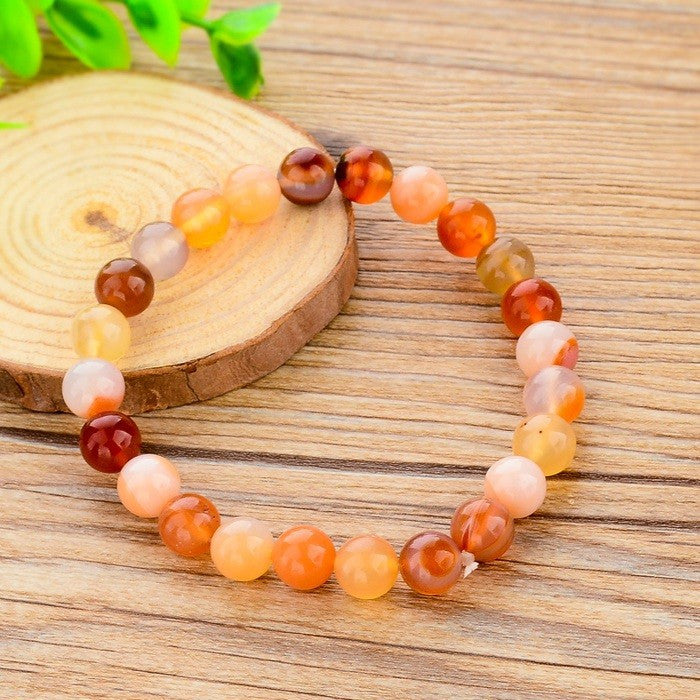 Ethnic Luxury Cute Bracelets & Bangles Elastic Rope Bracelet Multicolor Natural Stone Strand Bracelets For Women Girl