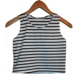 Striped 3 Colors New Women Tight Bustier Crop Top Skinny