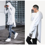 British Style Men Hoodies Hip Hop Streetwear Long Zipper