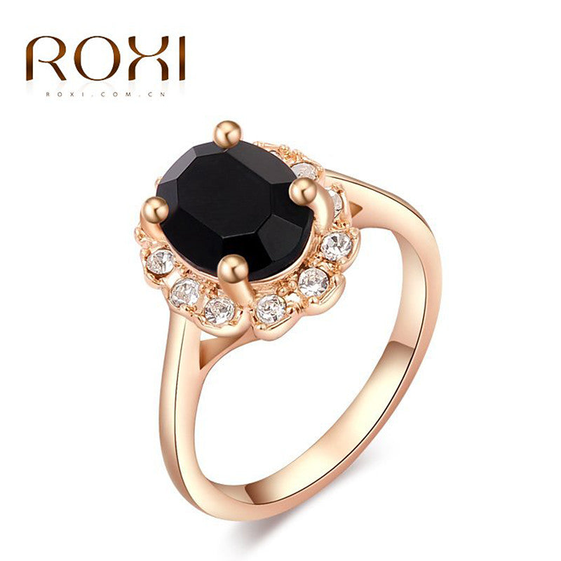 Classic rings,rose gold plated top quality make with genuine Austrian crystals