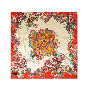 High Quality Imitated Silk Satin Scarves 90*90CM Square Printed