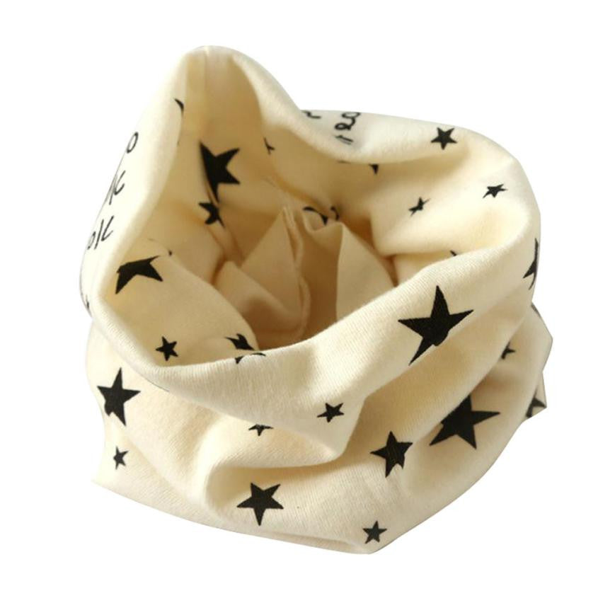 2016 Kids Baby Scarf Candy Colors Stars Leave O-ring Cotton
