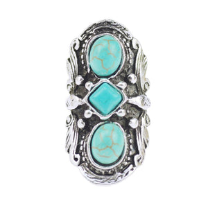 Vintage Bohemian Turquoise Ring For Women