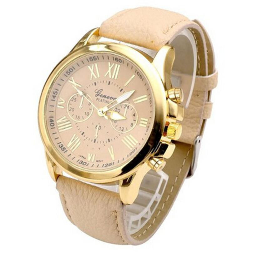 Dial Watches Women's Luxury Brand Leather Quartz