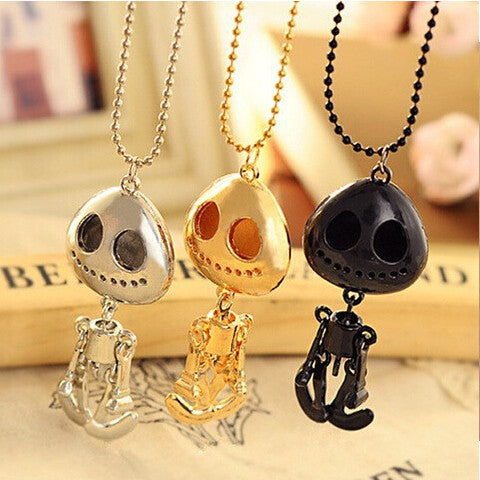 Big Eyes UFO Alien Skull Head A Long Paragraph Sweater Chain Necklace