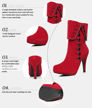 Womens Ankle Boots Heels 2016 Autumn Winter Fashion