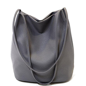 2016 Designer Women Leather Handbags Black Bucket Shoulder Bags Ladies Crossbody Bags Large Capacity Ladies Shopping Bag - Gifts Leads