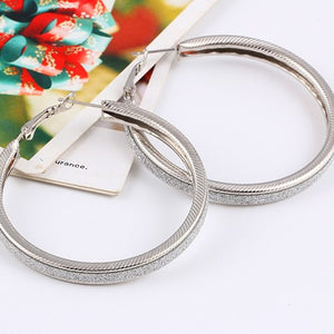 New Arrival Brand Unique Fashion Punk Generous Gold/Silver Big Circle Hoop Earrings For Women Jewelry Accessories