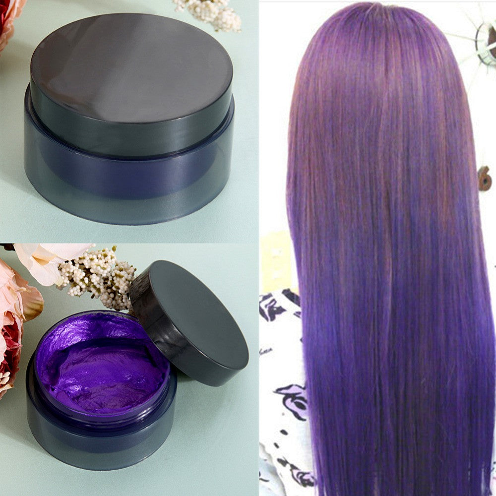 100ml Temporary Hair Dye Cream Hair Color Wax Mud Hair Fashion Modeling Hair Coloring Products 5 Colors for your choice