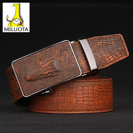 2016 Fashion croco automatic buckle genuine leather belts - Gifts Leads