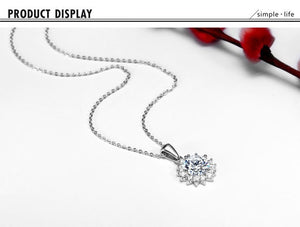 Platinum Plated Zircon Crystal Wedding bridal Engagement Necklace Pendants Fashion  women Jewelry XL1501