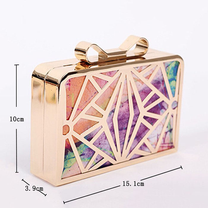 2016 New Fashion Women Handbags Metal Patchwork