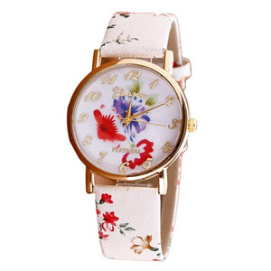 2016 Watch Women Trendy Fashion Flower Patterns
