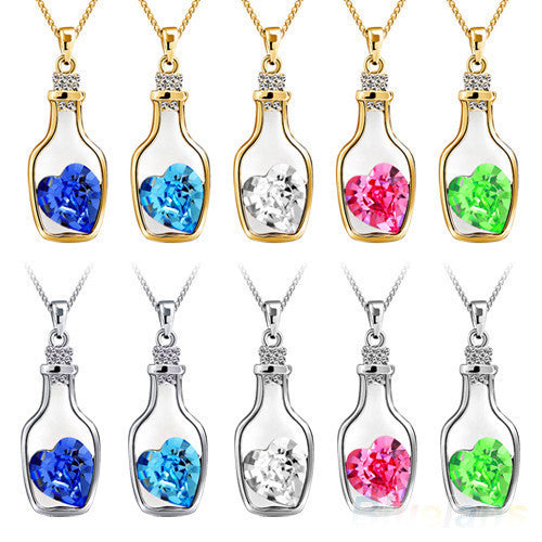 Cute Candy Colors Korean Women's Crystal Love Heart