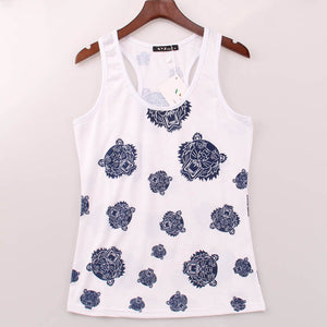 2016 Fashion Brand Tank Top Women Tigers Printed Printing Tank Tops Summer Sleeveless Punk Rock Vest Waistcoat Woman - Gifts Leads