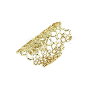 2016 European and American fashion jewelry rings hollow lace flower - Gifts Leads