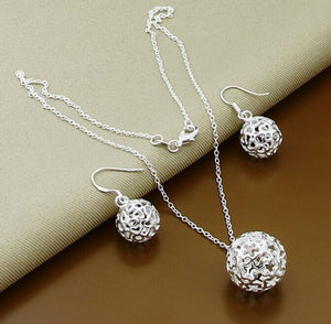 Promotion Sale, 925 Silver  Jewelry, 925 Sterling Silver Earrings,Necklace Sets Jewelry