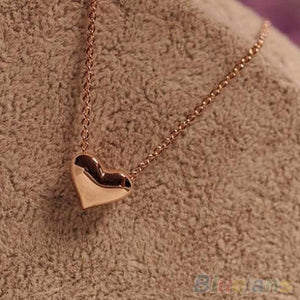 Women's fashion Jewelry Gold Plated Heart Bib Statement Chain Pendants Necklace