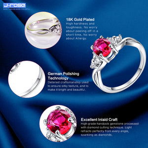 Passionate Love Women Jewelry Lady Wedding Gift Round Cut Red Ruby
