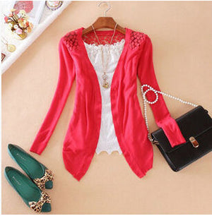 2016 Women Candy Color Irregular Hem Long Sleeve