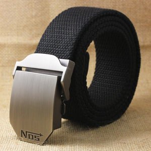 Hot Men Canvas Outdoor Belt Military Equipment Cinturon