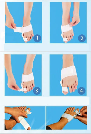 1Pair=2PCS New Feet Care Hallux Valgus Fixed Thumb Orthopedic Braces To Correct Daily Silicone Toe Big Bone Pedicure - Gifts Leads