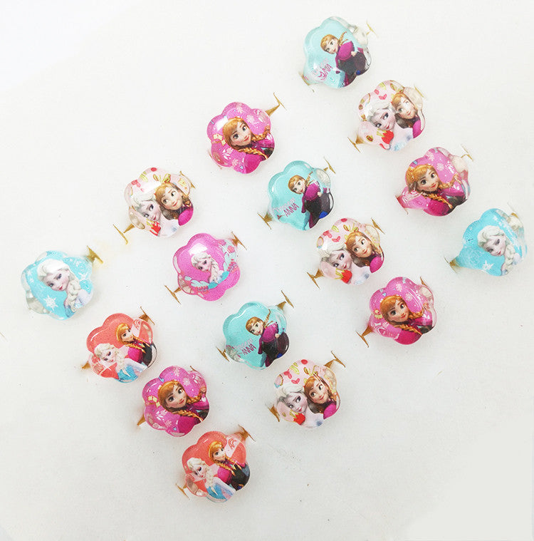 Jewelry Lots New Fashion 20pcs Mix Lovely Flower-Shape Resin Cartoon
