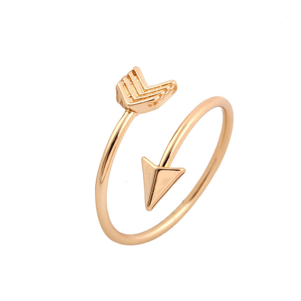 Arrow Wrap Ring - Rose Gold arrow rings,unique rings,adjustable rings