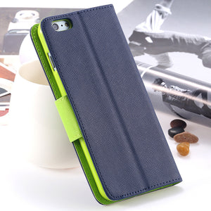 Fashion Luxury Wallet Stand Flip Case For iPhone 6