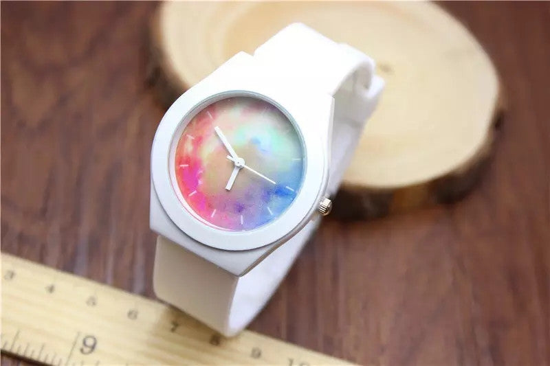 Fashion Jelly Silicone Strap Sport Quatz Watch Women