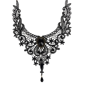 Fashion Necklaces For Women Beauty Girl Handmade Jewerly Gothic Retro Vintage Lace Necklace Collar Choker Necklace