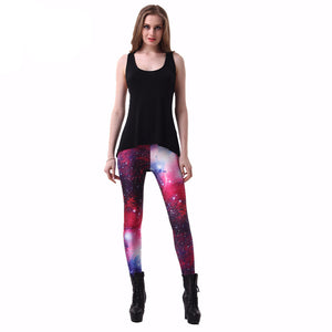2016! SEXY! Women Galaxy Purple Leggings Space Printed