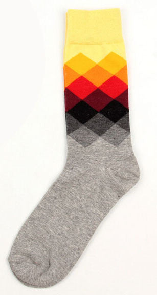 Male Tide Brand Happy Socks With Gradient Color Paragrap