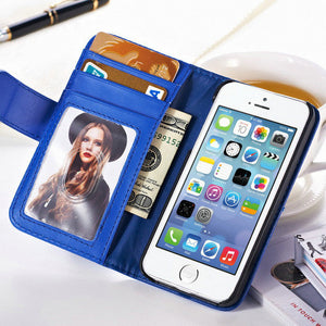Hot Magnetic Flip Leather Case For apple iPhone 5 5S