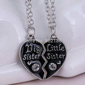 2P Sisters Pendant Necklace Broken Heart Puzzle Jewelry Unique Personalized Gifts Charms Couple Necklaces for Sister