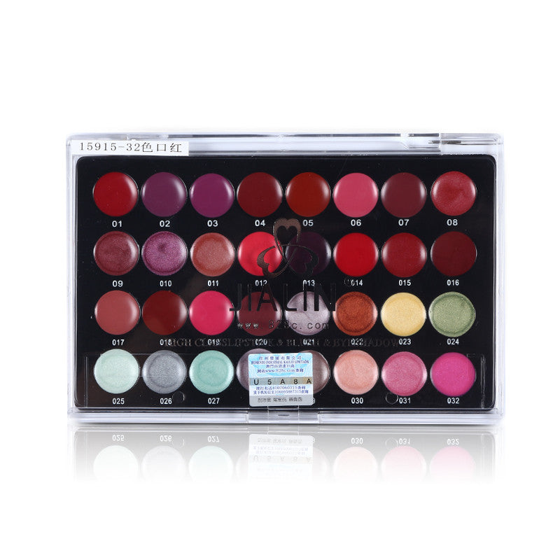 Pro Cosmetic 32 Color Gorgeous Lip Gloss Makeup Palette Set Moisturizing Lip Balm Genuine Lasting Glossy High Quality Lipsticks