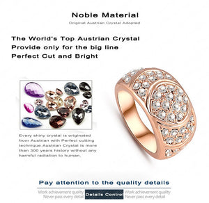 New Arrival Engagement Ring 18K Rose Gold Plate Women Rings Made
