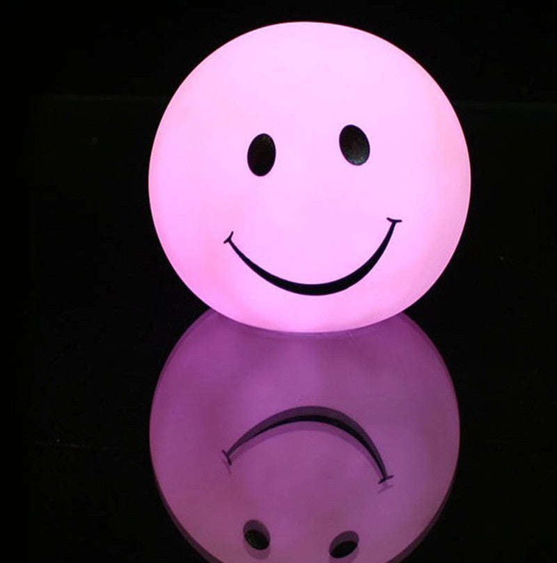 Kitop Lovely Round Smile Face LED night light lamp, changable color Smiling led night light For Baby / Children gift toy