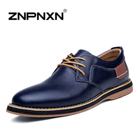 New 2016 Men Dress Shoes Lace Up Black Oxford Shoes