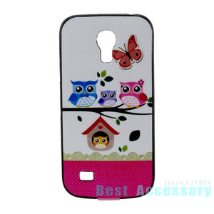 Case For S4 mini cute cartoon OWL dream elepants flower hybrid