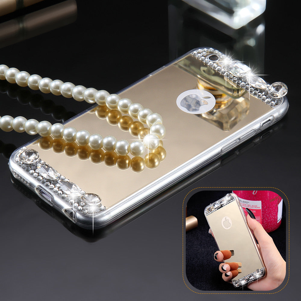 Luxury Diamond Mirror Case For iPhone 6 6s / Plus / 5 5s