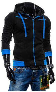 Men's Fashion Long Sleeve Navi Hoodie With a Hood Cardigan