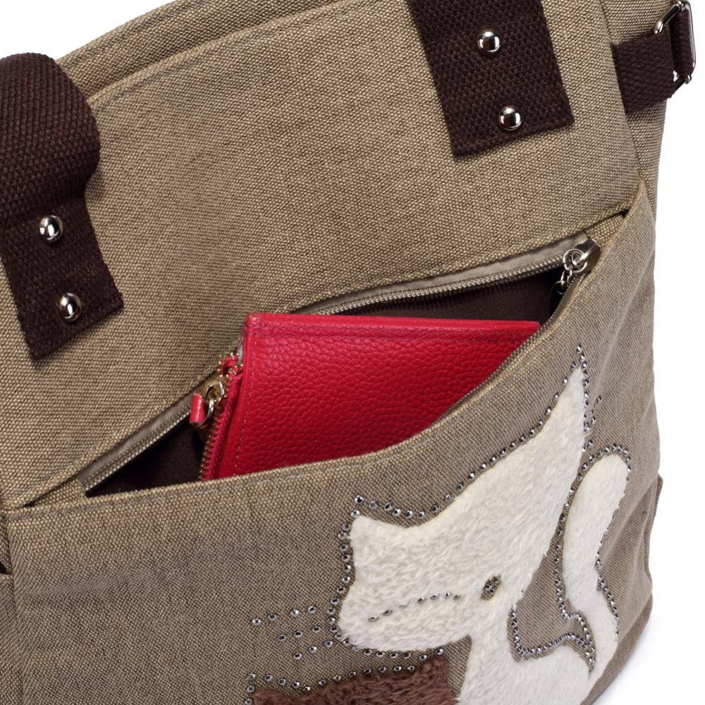 Fashion Women Canvas Handbag Cute Cat Appliques Travel Shoulder Bags Causal Lady Handbags Female Shoulder Toto Bags Bolsa